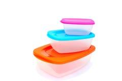 пластмасса еды контейнера Стоковые Фото