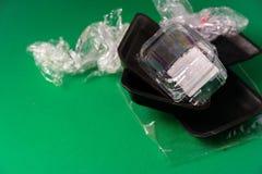 Пластмасса использовала устранимый пакет еды стоковые фото