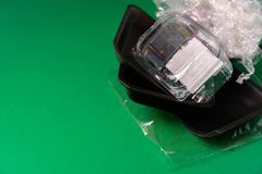 Пластмасса использовала устранимый пакет еды стоковое фото