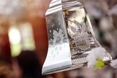 Пластмасса колокола рождества на рождество и счастливый Новый Год Стоковые Изображения RF