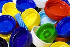 пластмасса крышки бутылки Стоковое Фото