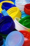 пластмасса крышки бутылки Стоковые Изображения