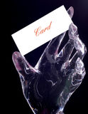 пластмасса ладони прозрачная Стоковые Изображения