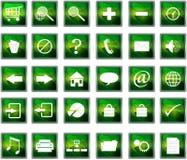пластмасса навигации икон Стоковые Фотографии RF