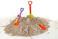 пластмасса пляжа toys каникула стоковые изображения rf