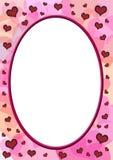 пластмасса сердец прозрачная Стоковое Изображение