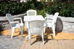 пластмасса стула пляжа Стоковые Изображения