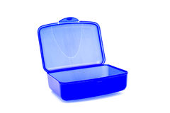 пластмасса click голубой коробки стоковое изображение rf