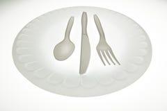 пластмасса cutlery Стоковое фото RF