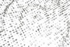 Платина серебряного или белого золота преграждает кубы над белой предпосылкой Моделирование иллюстрации 3d bitcoin минирования бо бесплатная иллюстрация