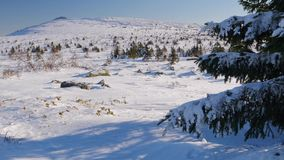 Плато зимы горы Maly Iremel акции видеоматериалы