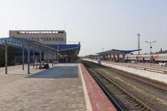 Платформа железнодорожного вокзала Anapa, зоны Краснодара Стоковые Фото