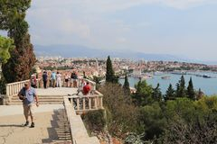 Платформа замечания на холме Marjan, разделение, Хорватия Стоковое Фото