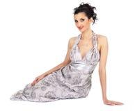 платье брюнет шикарное Стоковые Изображения RF