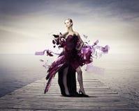 Платье летая Стоковое Изображение RF