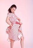 платье слегка ударяя девушку Стоковая Фотография RF