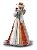 платье средневековое Стоковое Изображение