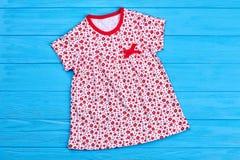 Платье хлопка девушки малыша милое Стоковые Фото