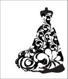 Платье цветка свадьбы Стоковое Фото