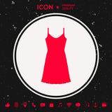 Платье Sundress, вечера, комбинация или nightie, силуэт Пункт меню в веб-дизайне Стоковое Изображение RF