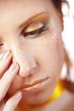плача девушка Стоковое Изображение