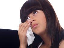 плача детеныши девушки Стоковая Фотография