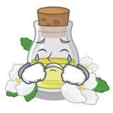 Плача масло жасмина в форме мультфильма бесплатная иллюстрация