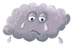 Плача облако - ненастное облако иллюстрация вектора