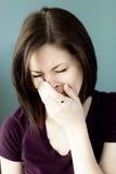 плача унылые детеныши женщины Стоковая Фотография RF