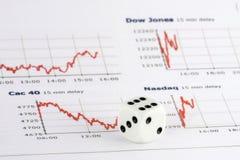 плашка изображает диаграммой рынок над штоком Стоковое Изображение