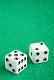 плашки играя в азартные игры удачливейшая таблица 7 Стоковая Фотография