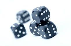 плашки играя в азартные игры Стоковое Изображение RF
