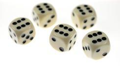 плашки казино играя в азартные игры Стоковое Изображение