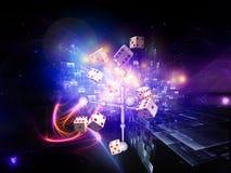 плашки конструкции играя в азартные игры стоковые фотографии rf