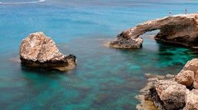 плаща-накидк зоны выдалбливает море greco Кипра стоковое изображение rf