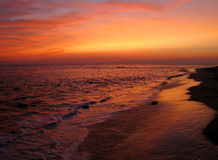 плаща-накидк может заход солнца Стоковые Фото