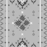 Племенная этническая безшовная картина в геометрическом стиле иллюстрация штока