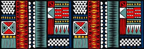 Племенной орнамент вектора африканская картина безшовная Этнический ковер с шевронами Ацтекский стиль иллюстрация вектора