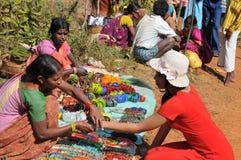 Племенной продавец на долине Araku, Vishakhapattnam, Indiaseller Стоковые Фото