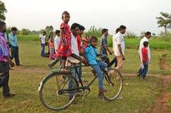 Племенной фестиваль в районе Puruliya западной Бенгалии стоковые изображения