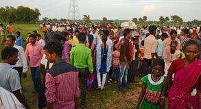 Племенной фестиваль в районе Puruliya западной Бенгалии стоковое изображение rf