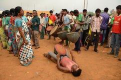 Племенной фестиваль-Chata Parab стоковое фото rf
