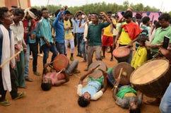 Племенной фестиваль-Chata Parab стоковые фото