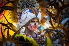 Племенные костюмы в параде масленицы стоковое фото rf