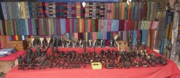 Племя Карена деревни, известные длинн-necked женщины Магазин с handmad Стоковая Фотография