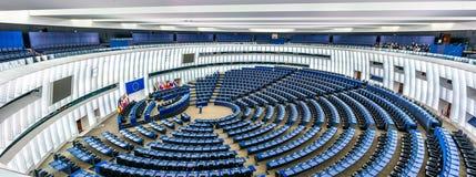 Пленарная зала Европейского парламента в страсбурге, Франции Стоковое Изображение