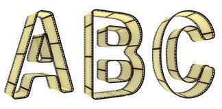 пленка алфавита Стоковое Изображение RF