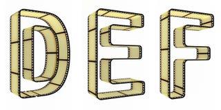 пленка алфавита Стоковое фото RF