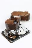 Пленка и жесткий диск Стоковые Изображения RF