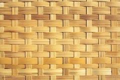 Плетеная бамбуковая текстура Стоковое Изображение